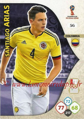 2018 - Panini FIFA World Cup Russia Adrenalyn XL - N° 056 - Santiago ARIAS (Colombie)