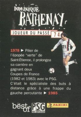 N° 074 - Dominique BATHENAY (Verso)