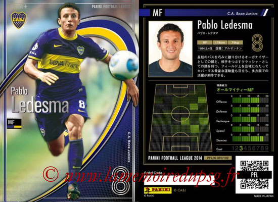 Panini Football League 2014 - PFL06 - N° 081 - Pablo LEDESMA (CA Boca Juniors) (Star +)