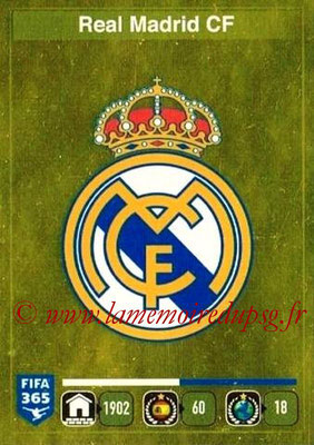 2015-16 - Panini FIFA 365 Stickers - N° 371- Ecusson Real Madrid CF
