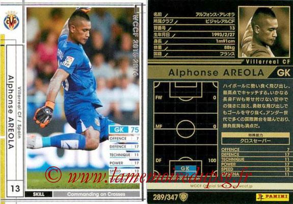 2015-16 - Panini WCCF - N° 289 - Alphonse AREOLA (Villarreal CF)
