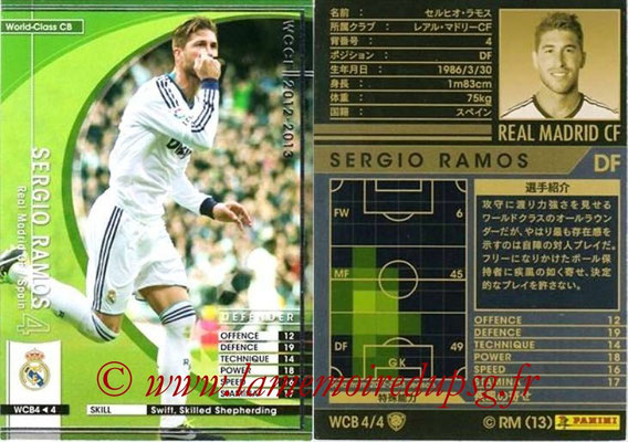 2012-13 - WCCF - N° WCB4 - Sergio RAMOS (Real Madrid CF) (World Class CB)