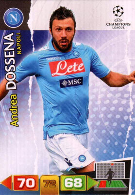 2011-12 - Panini Champions League Cards - N° 174 - Andrea DOSSENA (SSC Naples)