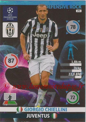 2014-15 - Adrenalyn XL champions League N° 293 - Giorgio CHELLINI (Juventus) (Defensive Rock)
