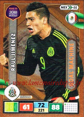 2018 - Panini Road to FIFA World Cup Russia Adrenalyn XL - N° MEX05 - Raul JIMENEZ (Mexique) (Goal Machine)