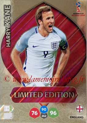 2018 - Panini FIFA World Cup Russia Adrenalyn XL - N° LE-HK - Harry KANE (Angleterre) (Limited Edition)