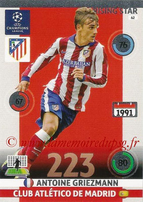 2014-15 - Adrenalyn XL champions League N° 062 - Antoine GRIEZMANN (Atletico Madrid) (Rising Star)