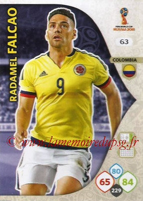 2018 - Panini FIFA World Cup Russia Adrenalyn XL - N° 063 - Radamel FALCAO (Colombie)