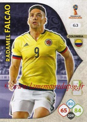 2018 - Panini FIFA World Cup Russia Adrenalyn XL - N° 063 - Radamel FALCAO (Colombie)