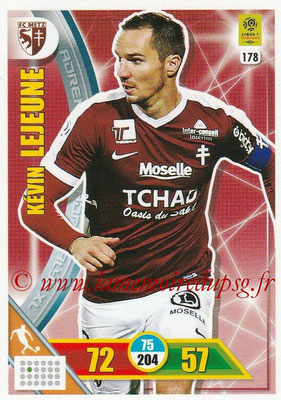 2017-18 - Panini Adrenalyn XL Ligue 1 - N° 178 - Kevin LEJEUNE (Metz)