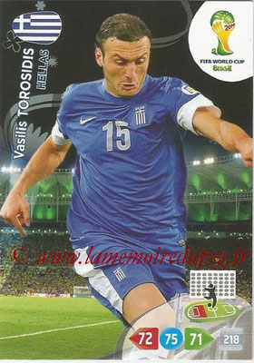 2014 - Panini FIFA World Cup Brazil Adrenalyn XL - N° 180 - Vasilis TOROSIDIS (Grèce)