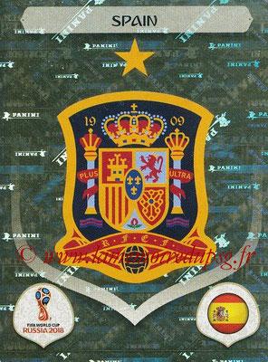 2018 - Panini FIFA World Cup Russia Stickers - N° 132 - Ecusson Espagne