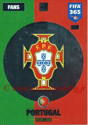 2016-17 - Panini Adrenalyn XL FIFA 365 - N° 311 - Logo Portugal (Club Badge)