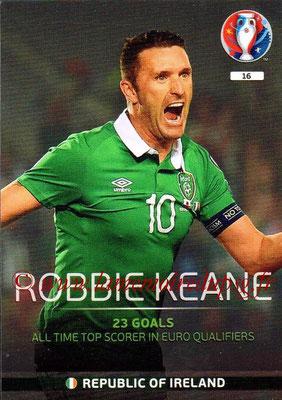 Panini Euro 2016 Cards - N° 016 - Robbie KEANE (République d'Irlande) (Legend)