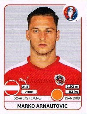 Panini Euro 2016 Stickers - N° 643 - Marko ARNAUTOVIC (Autriche)