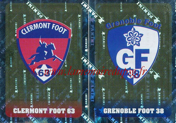 2018-19 - Panini Ligue 1 Stickers - N° 530 - Ecussons Clermont Foot 63 + Grenoble Foot 38