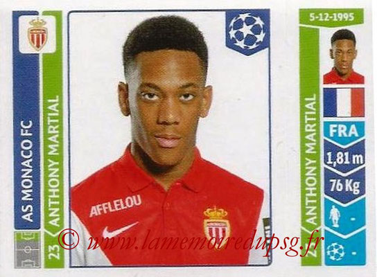2014-15 - Panini Champions League N° 252 - Anthony MARTIAL (AS Monaco)