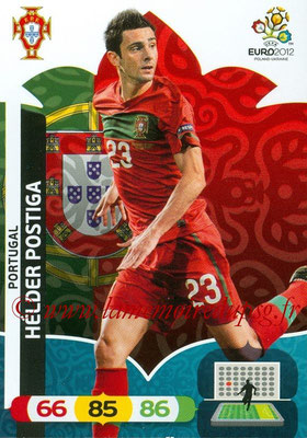 Panini Euro 2012 Cards Adrenalyn XL - N° 176 - Helder POSTIGA (Portugal)