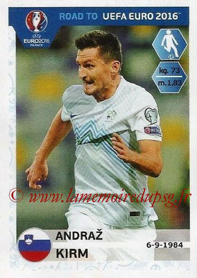 Panini Road to Euro 2016 Stickers - N° 298 - Andraz KIRM (Slovénie)