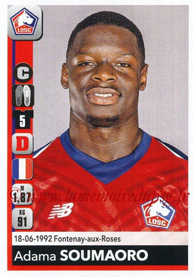 2018-19 - Panini Ligue 1 Stickers - N° 160 - Adama SOUMAORO (Lille)