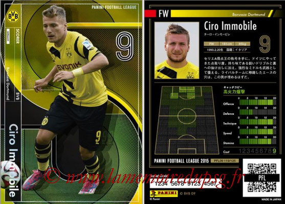 Panini Football League 2015 - PFL09 - N° 119 - Ciro IMMOBILE (Borussia Dortmund) (Scorer)