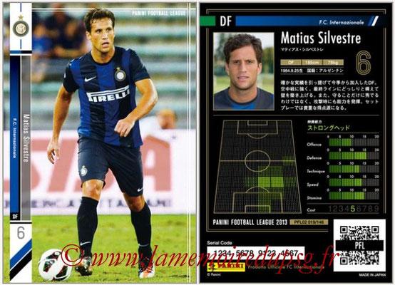 Panini Football League 2013 - PFL02 - N° 019 - Matias Silvestre ( F.C. Internazionale )