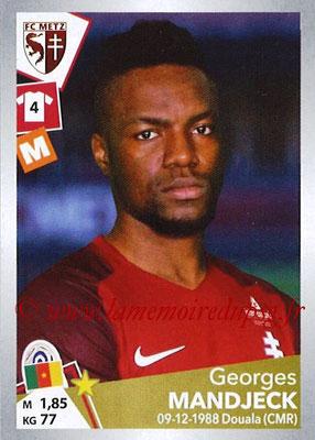 2017-18 - Panini Ligue 1 Stickers - N° T20 - Georges MANDJECK (Metz) (Transfert)