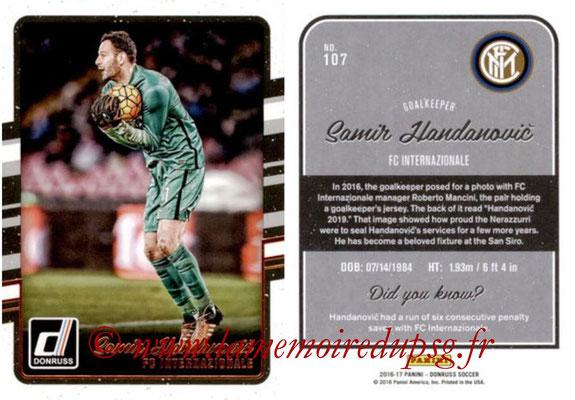 2016 - Panini Donruss Cards - N° 107 - Samir HANDANOVIC (FC Internazionale)