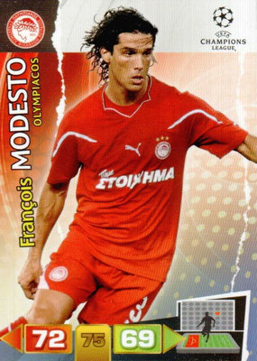 2011-12 - Panini Champions League Cards - N° 186 - François MODESTO (Olympiacos)