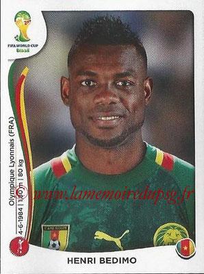 2014 - Panini FIFA World Cup Brazil Stickers - N° 095 - Henri BEDIMO (Cameroun)