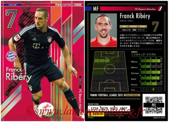 Panini Football League 2013 - PFL01 - N° 183 - Franck Ribery ( FC Bayern Munchen ) (Super MF)
