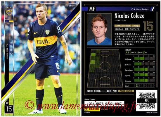 Panini Football League 2013 - PFL02 - N° 085 - Nicolas Colazo ( C.A. Boca Juniors )