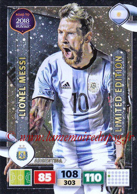 2018 - Panini Road to FIFA World Cup Russia Adrenalyn XL - N° LE-LM - Lionel MESSI (Argentine) (Limited Edition)