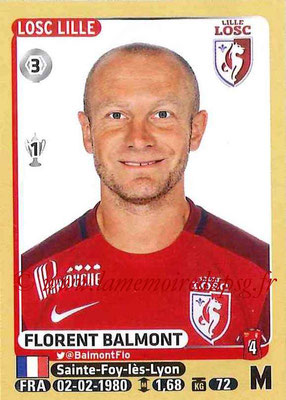 2015-16 - Panini Ligue 1 Stickers - N° 156 - Florent BALMONT (Lille OSC)