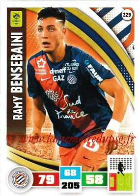 2016-17 - Panini Adrenalyn XL Ligue 1 - N° 229 - Ramy  BENSEBAINI (Montpellier)