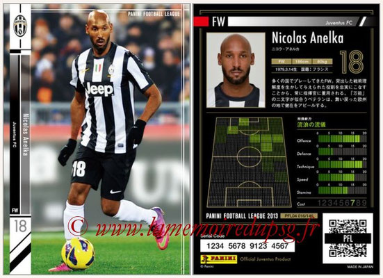 Panini Football League 2013 - PFL04 - N° 016 - Nicolas ANELKA (Juventus FC)