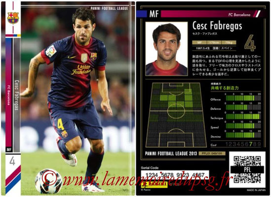 Panini Football League 2013 - PFL01 - N° 049 - Cesc Fabregas ( FC Barcelona )