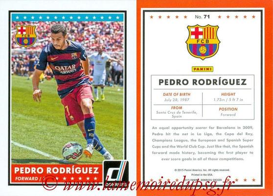 2015 - Panini Donruss Soccer - N° 071 - Pedro RODRIGUEZ (FC Barcelone)