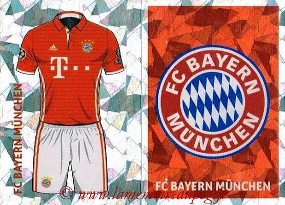 2016-17 - Topps UEFA Champions League Stickers - N° BMU 1-2 - Logo + Maillot Domicile (FC Bayern Munich)