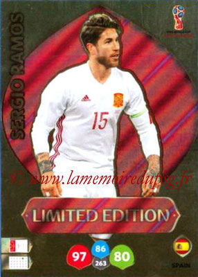 2018 - Panini FIFA World Cup Russia Adrenalyn XL - N° LE-SR1 - Sergio RAMOS (Espagne) (Limited Edition)