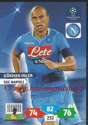 2013-14 - Adrenalyn XL champions League N° 194 - Gokhan INLER (SSC Napoli)