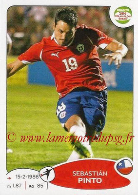 2014 - Panini Road to FIFA World Cup Brazil Stickers - N° 170 - Sebastian PINTO (Chili)