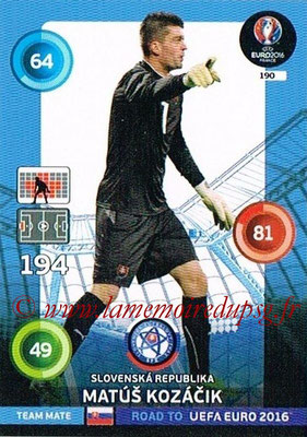 Panini Road to Euro 2016 Cards - N° 190 - Matus KOZACIK (République Slovaque)
