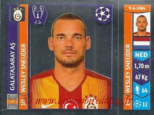 2014-15 - Panini Champions League N° 297 - Wesley SNEIJDER (Galatasaray AS)