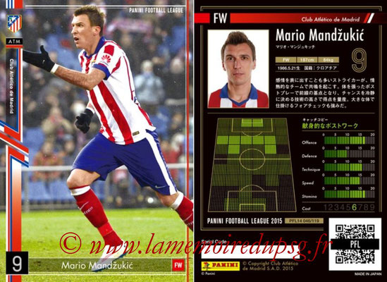Panini Football League 2015 - PFL14 - N° 046 - Mario MANDZUKIC (Club Atletico de Madrid)