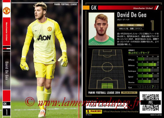 Panini Football League 2014 - PFL08 - N° 054 - David DE GEA (Manchester United)