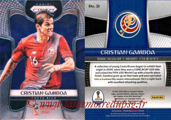 2018 - Panini Prizm FIFA World Cup Russia - N° 051 - Cristian GAMBOA (Costa Rica)