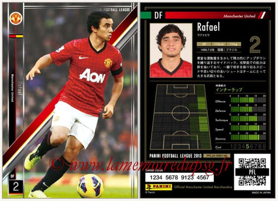 Panini Football League 2013 - PFL04 - N° 058 - RAFAEL (Manchester United)