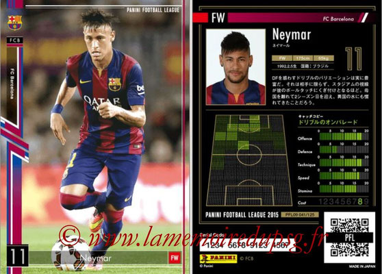Panini Football League 2015 - PFL09 - N° 041 - NEYMAR (FC Barcelone)