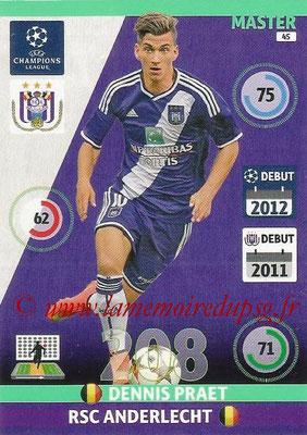 2014-15 - Adrenalyn XL champions League N° 045 - Dennis PRAET (RSC Anderlecht) (Master)
